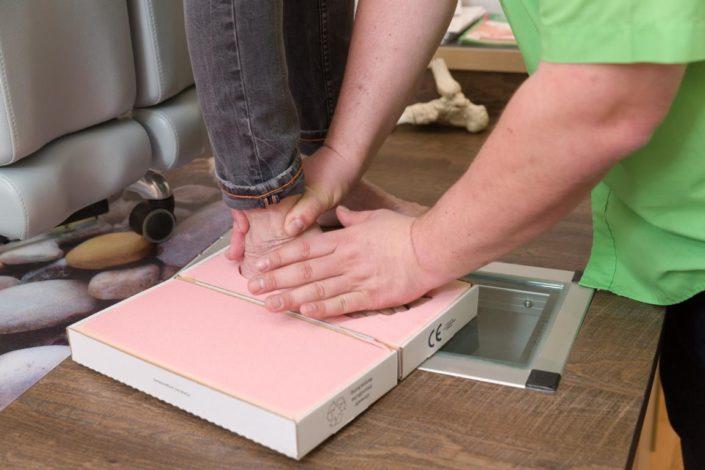 Erhardt Gesunde Schuhe Diabetesversorgung Schaum Fußabdruck