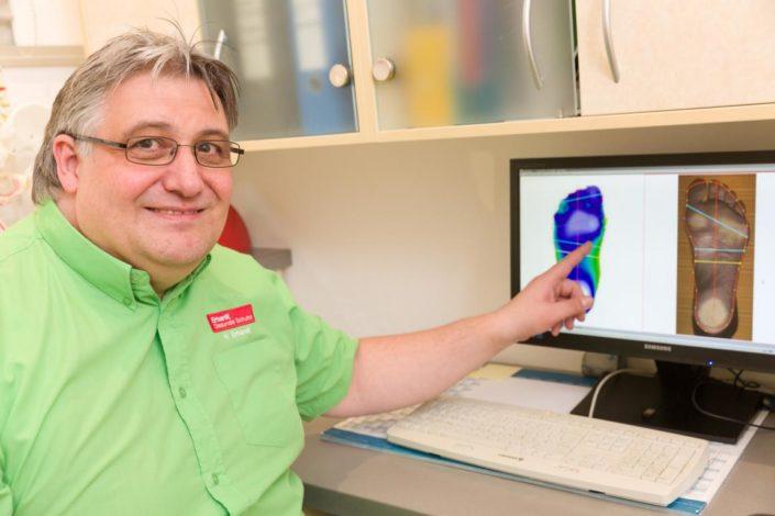 Erhardt Gesunde Schuhe Diabetesversorgung Digitaler Fußabdruck Auswertung