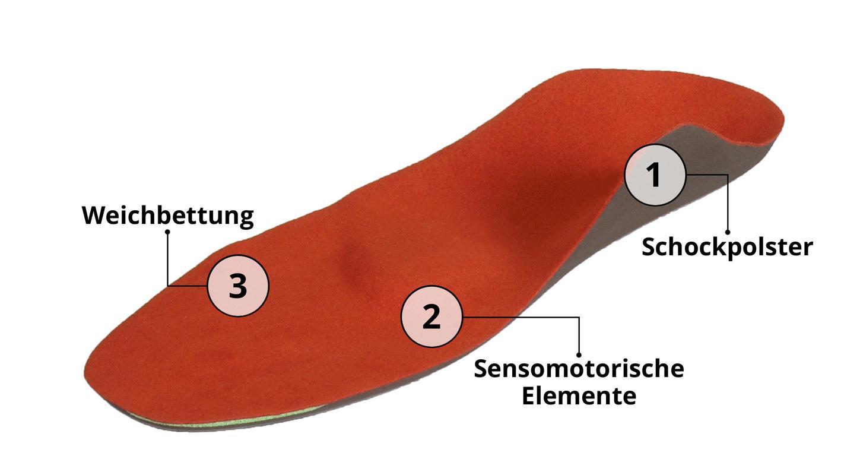 Erhardt Gesunde Schuhe sensomotorische Einlage Abbildung